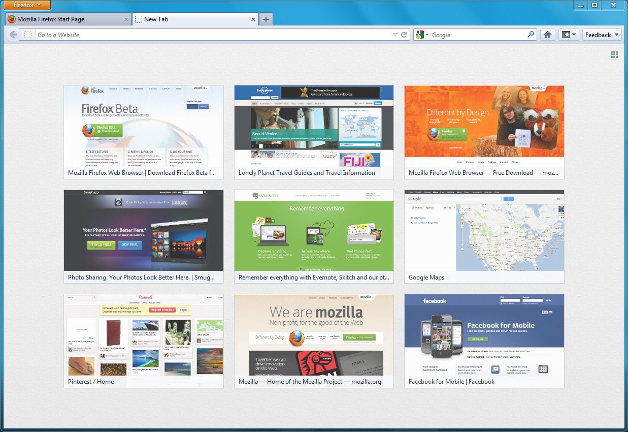 Как в Firefox скрыть поисковую строку на странице с закладками