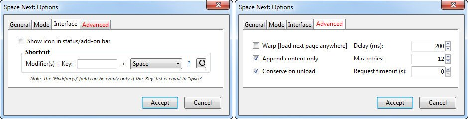 дополнение Space Next
