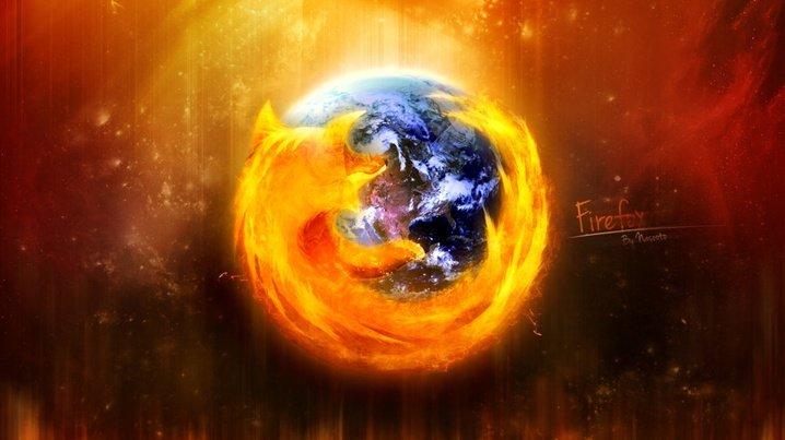 Логотип Firefox в виде земного шара