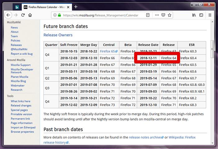 Следующая версия Firefox