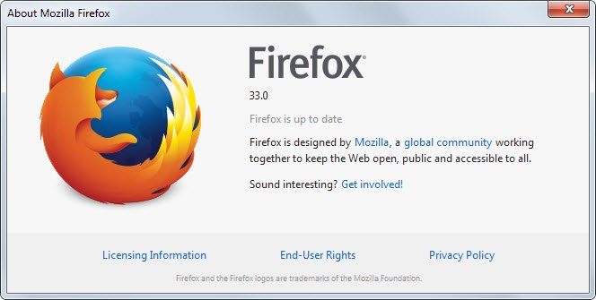 Mozilla Firefox 33: что нового