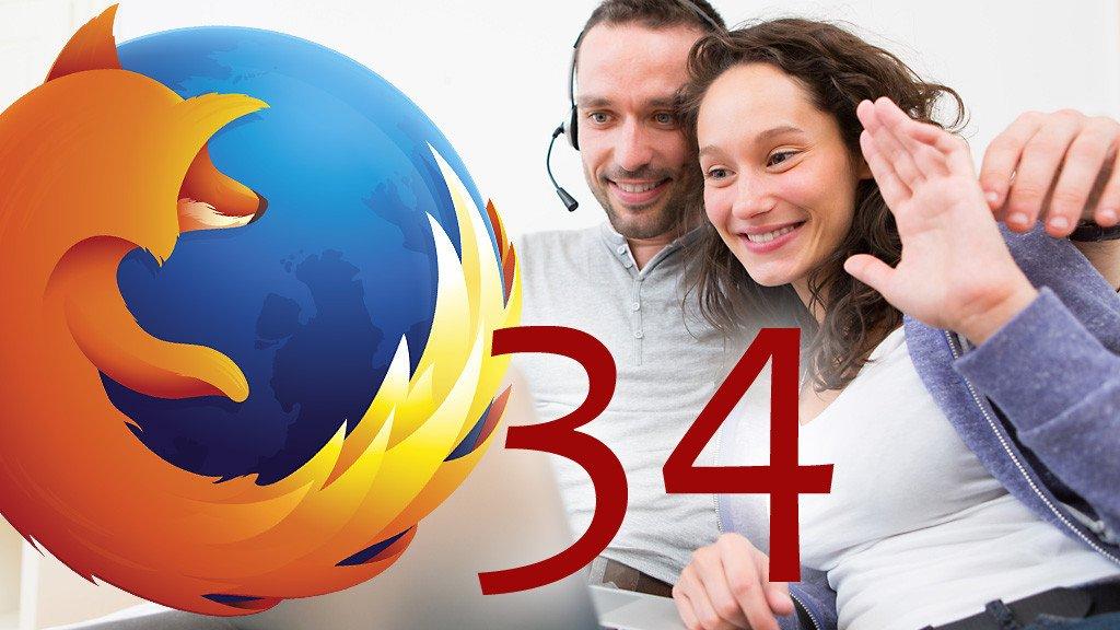Firefox 34 logo