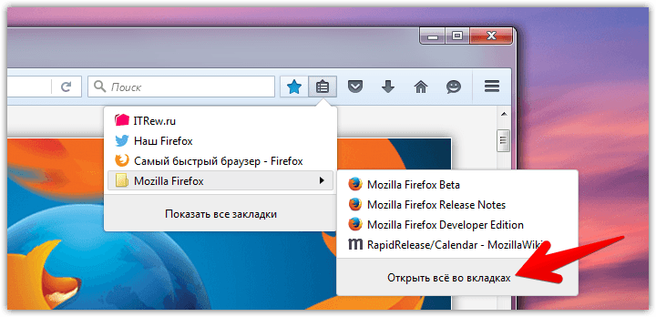 Firefox bookmarks menu (9)